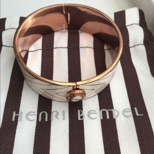 Henri Bendel hinged enamel bracelet
